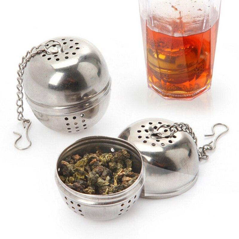 Шарик для чая New Tea шарик для заварки сетчатый фильтр для рассыпных листьев трав многоразовая безопасная застежка сферическая сетчатая ручк...