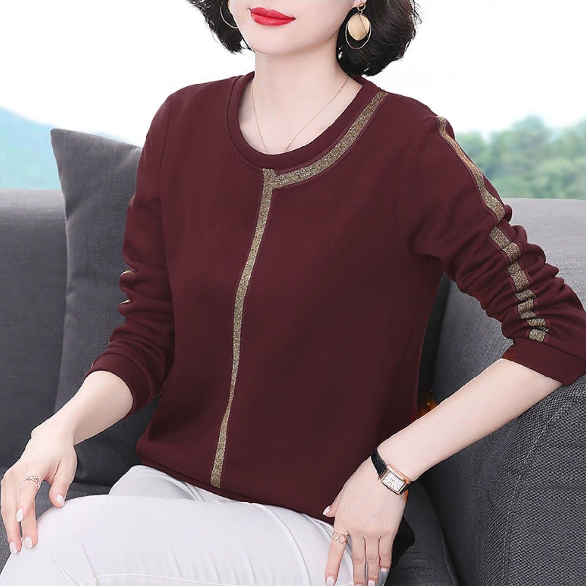 Осенне-зимний женский теплый пуловер, большого размера, большого размера, Свободный пуловер большого размера, женское базовое пальто