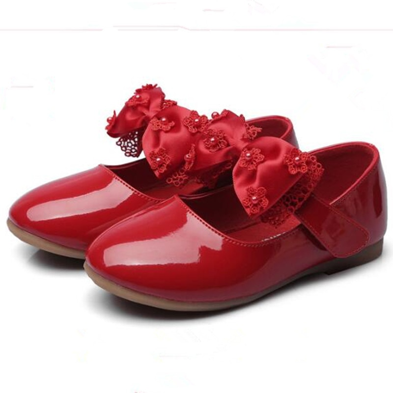 baby girls Shoes Kids wedding party shoes little girls patent leather shoes flower princess Shoes For Dance Red White Black ssai kids girls princess shoes lace flowers girls leather shoes children dance dress shoes baby girls wedding party shoes