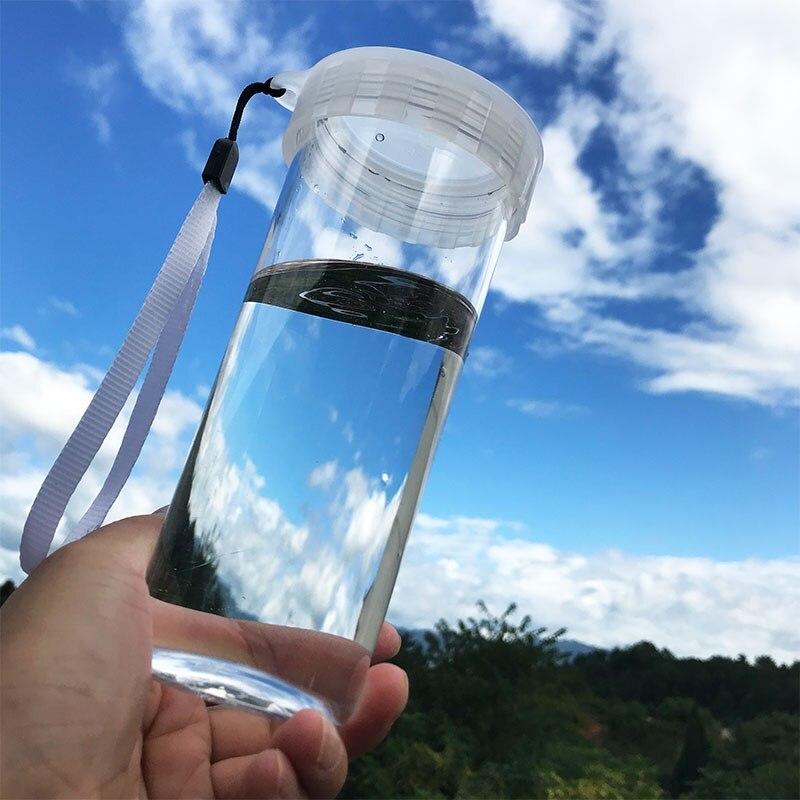 Botella De Agua infusión térmica para senderismo botella De Agua De plástico Cristal Filtro De fruta Garrafas De Agua al aire libre artículos útiles JJ60SP