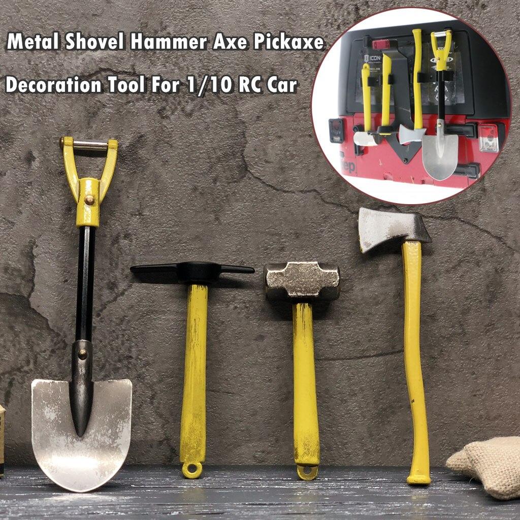 Juguetes de los niños игрушки de pala martillo hacha pico decoración Kit de herramientas para SCX10 TRX-4 D90 RC coche наклейки Accesorios