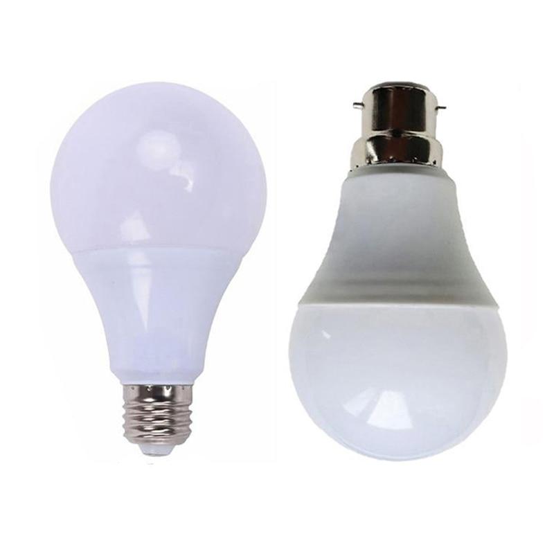 E27 Bombilla LED, lámpara de bayoneta, luz de bola blanca fría de...