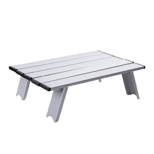 Portable Foldable Mini Aluminum alloy Table for Outdoor Picnic Barbecue Tours Tableware Ultra Light Folding Computer Bed Desk