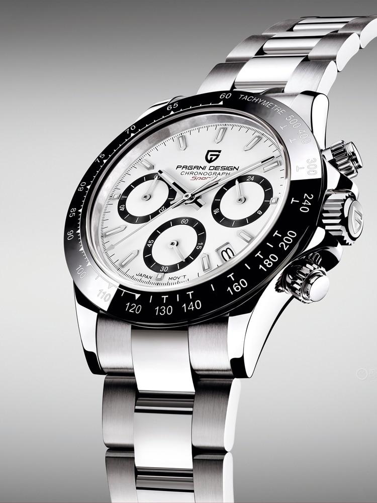 PAGANI DESIGN 2021 New Men's Watches Quartz Business Watch Mens Watches Top Brand Luxury Watch Men Chronograph VK63 Reloj Hombre