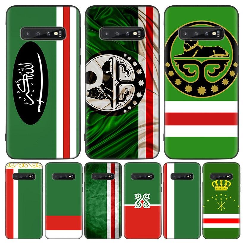 Bandera de Chechenia arte de la cubierta del teléfono para Samsung Galaxy A51 A71 A10 A20E A30 A40 A50 A70 M30S A6 A7 A8 A01 Coque Shell
