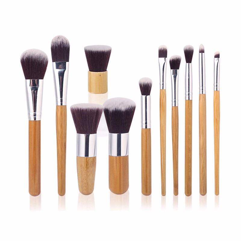 11Pcs/set Professional Makeup Brushes Cosmetic Tools Kit Foundation Blending Contour Brush Set Pincel Maquiagem Free Shipping