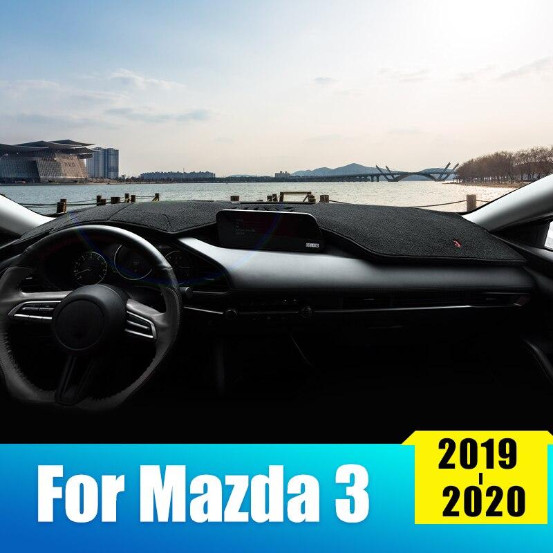 Car Dashboard Cover For Mazda 3 Axela 2019 2020 Automobile Dash Mat Dashboard Pad Carpet Anti-UV Non-Slip Sun Pad Accessories