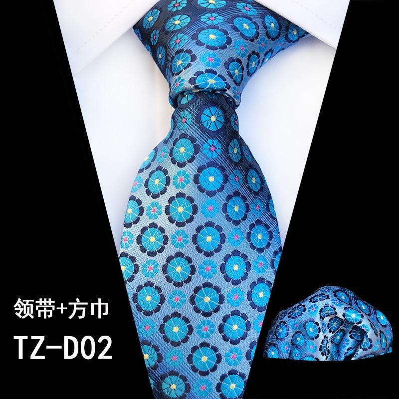 8cm Polyester Tie Set for Men Fashion Necktie Handkerchief Men's Classic Neck Tie Hankies for Wedding Custom Logo