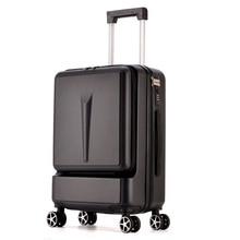JULY'SONG Новая мода 20 дюймов передний карман багаж тележка пароль коробка 20 'посадочный чемодан Женская дорожная сумка багажник