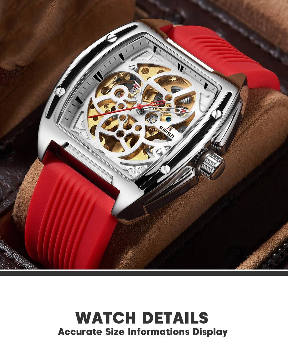 H83339dc7f8634a16a4b38b65de2a784eq SWISH Brand Design Luxury Men's Mechanical Wristwatch