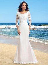 Nouvelle offre spéciale mode Appliques Scoop dentelle longue robe de mariée 2021 perles robes de mariée robes de mariée