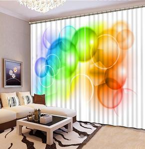 Modern Children room Curtains colorful circle Curtains For The Living Room Bedroom Window Treatment Drapes