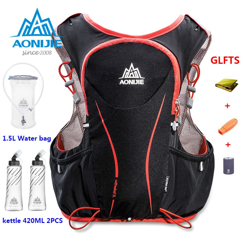 AONIJIE 5L Women Bag Men Marathon Hydration Vest Pack for 1.5L Water Cycling Hiking Outdoor Sport Running Backpack