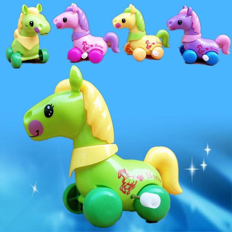 Bobinado My Little Shake Head y WAG Tail caballo de dibujos animados bobinado de juguete de cuerda de juguete Yiwu