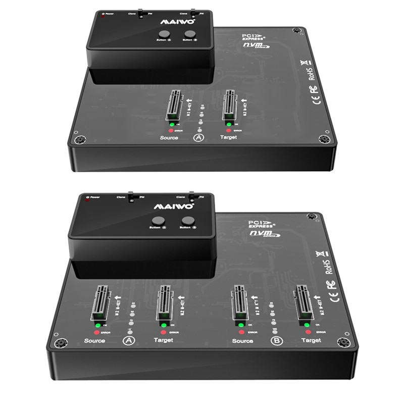 MAIWO M.2 NVME SSD ضميمة استنساخ USB 3.1 Gen2 10 جيجابايت M مفتاح M/B مفتاح NVME نوع C بكيي وسيط تخزين ذو حالة ثابتة/ القرص الصلب قارئ لنا المكونات