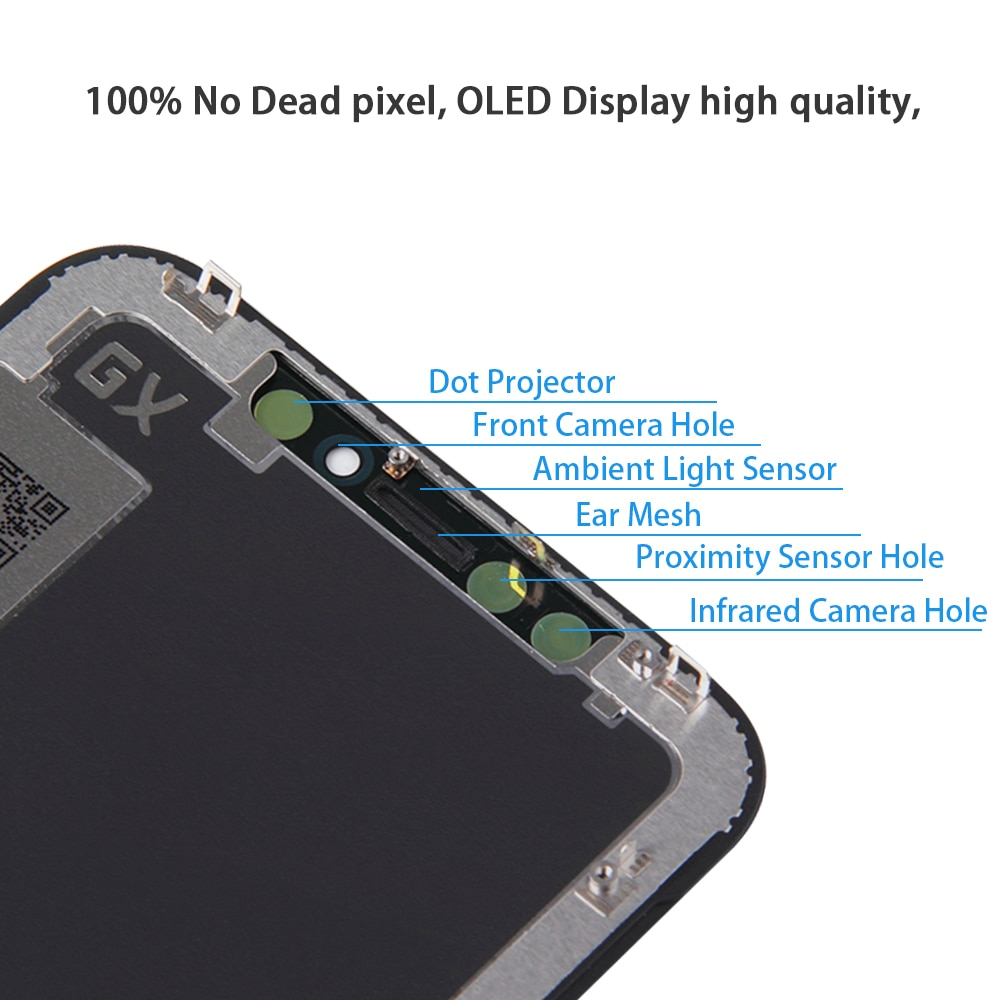 AAA+++ For iPhone X OLED With 3D Touch Digitizer Assembly No Dead Pixel LCD Screen Replacement Display For iPhoneX LCD with Gift enlarge