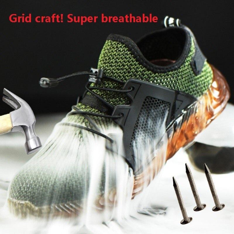 Zapatos indestructibles Ryder para hombres y mujeres, botas de seguridad de acero con punta de aire, zapatos de trabajo a prueba de pinchazos, zapatos transpirables para hombres 2020