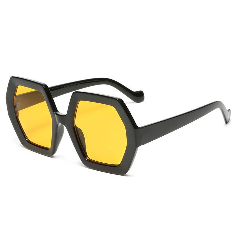 2021 new fashion big frame sunglasses hexagon black frame visor sunglasses men and women retro glasses sunglasses