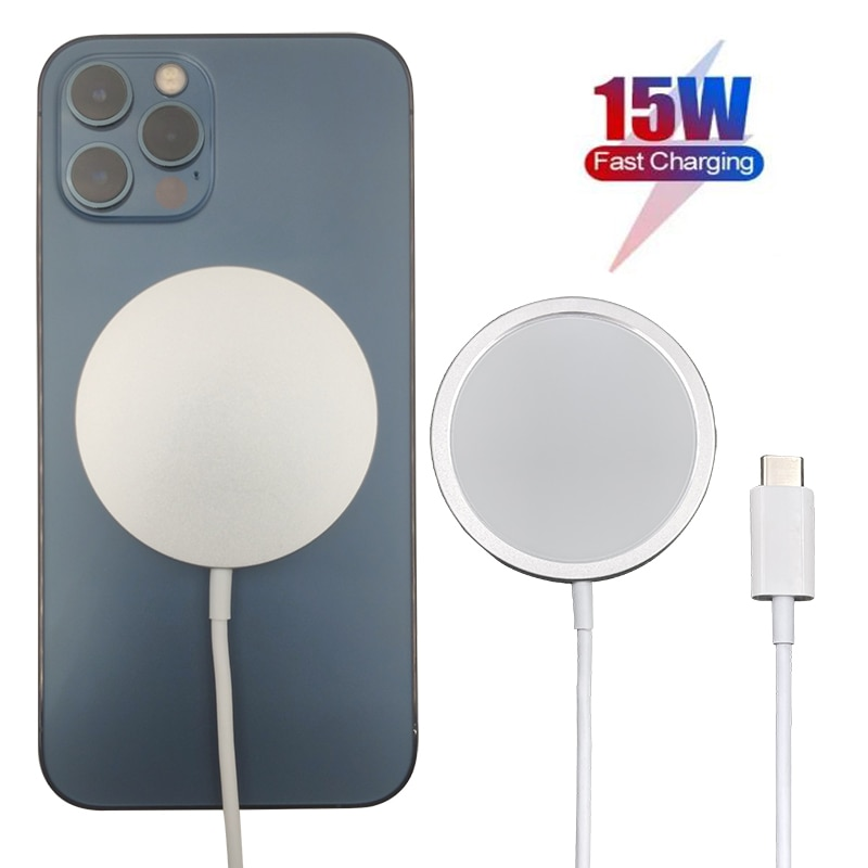 WLMLBU 15W Magnetic Wireless Charger for iPhone 12 Pro Max 12pro Qi Fast Charger for iPhone 12 Mini USB C PD Adapter Magsafing