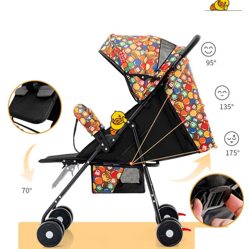 Baby Stroller High Landscape Stroller Reclining Baby Carriage Foldable Stroller Baby Bassinet Puchair Newborn enlarge