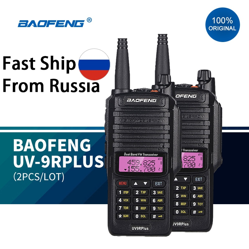 Baofeng-راديو هواة محسّن uv9r plus ، راديو مزدوج النطاق ، مقاوم للماء ، الاتصالات ، vhf ، uhf ، marin ، 100%