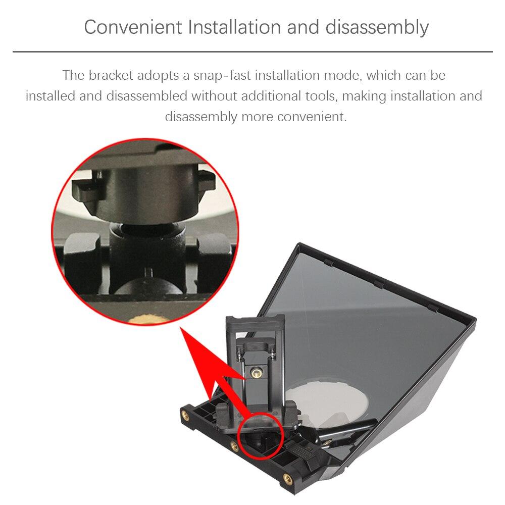 FEELWORLD Portable Remote Control Teleprompter DSLR Smartphone Video Recording Tablet Prompter TP2 enlarge