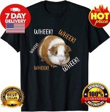 Śliczne śmieszne Wheek-świnka morska właściciel Cavy Lover TShirt koszulka czarna bawełniana koszulka