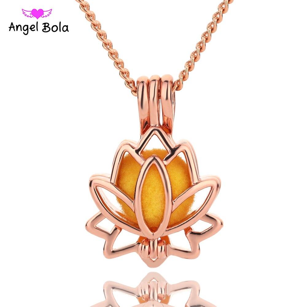 10 unids/lote Bola de Ángel joyería Yoga aromaterapia aceites esenciales difusor de Perfume quirúrgico collar Drop Shipping L154A