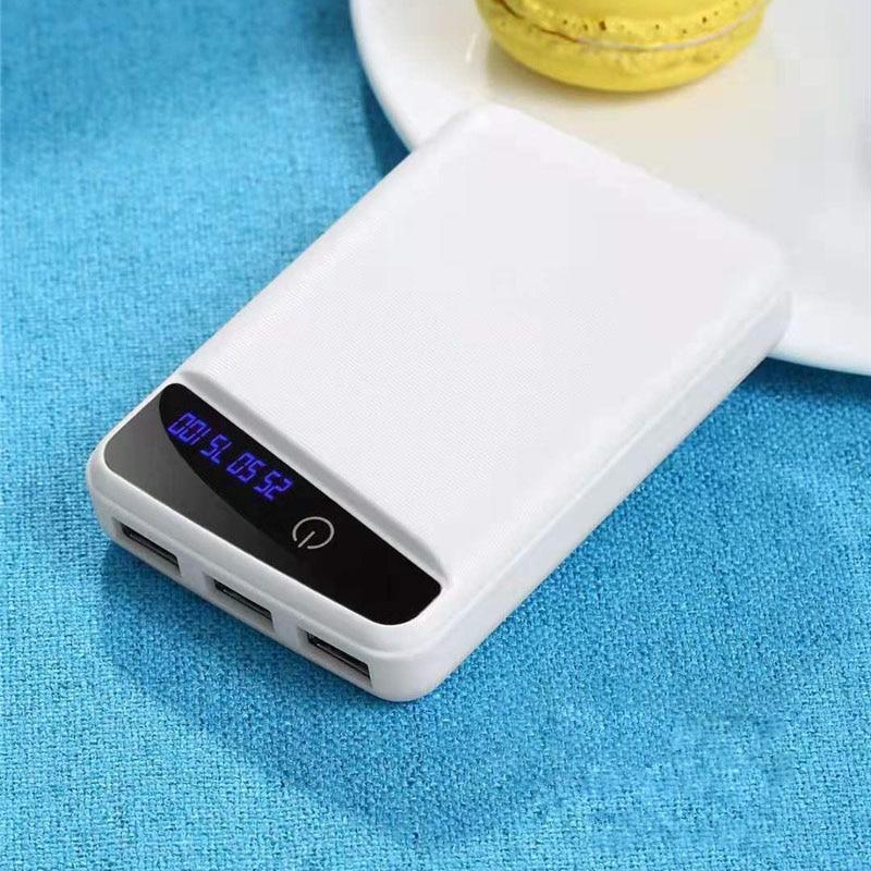 3 USB Micro USB Power Bank Shell 10000mAh DIY 3*18650 Case Battery Charge Storage Box with Digital L