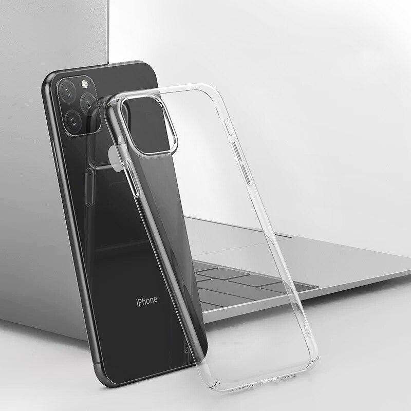 Funda de teléfono de silicona suave de lujo para iphone 11 Pro 7 8 6s X XS MAX XR carcasa transparente de TPU funda trasera para iphone 11 Pro Max