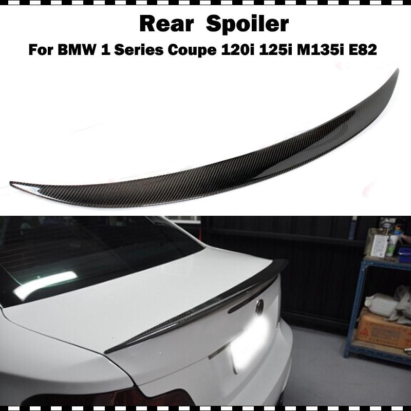 Alerón de fibra de carbono de estilo de rendimiento para BMW 1 serie 120i 125i 135i E82 Coupe 2 puertas 08-12 año P Styling