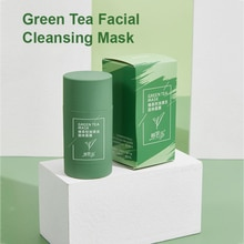 Cleansing Green Stick Green Tea Stick Mask Purifying Clay Stick Mask Oil Control Anti-acne Eggplant