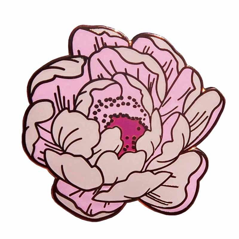P5589 Dongmanli fleur émail dur épingles femmes Badge sac à dos col revers bijoux de mode