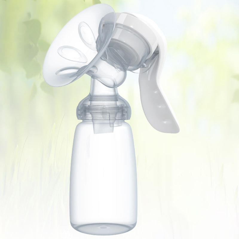 Handy Manual Breast Pump Powerful Baby Nipple Suction Feeding Milk Bottles for Travel