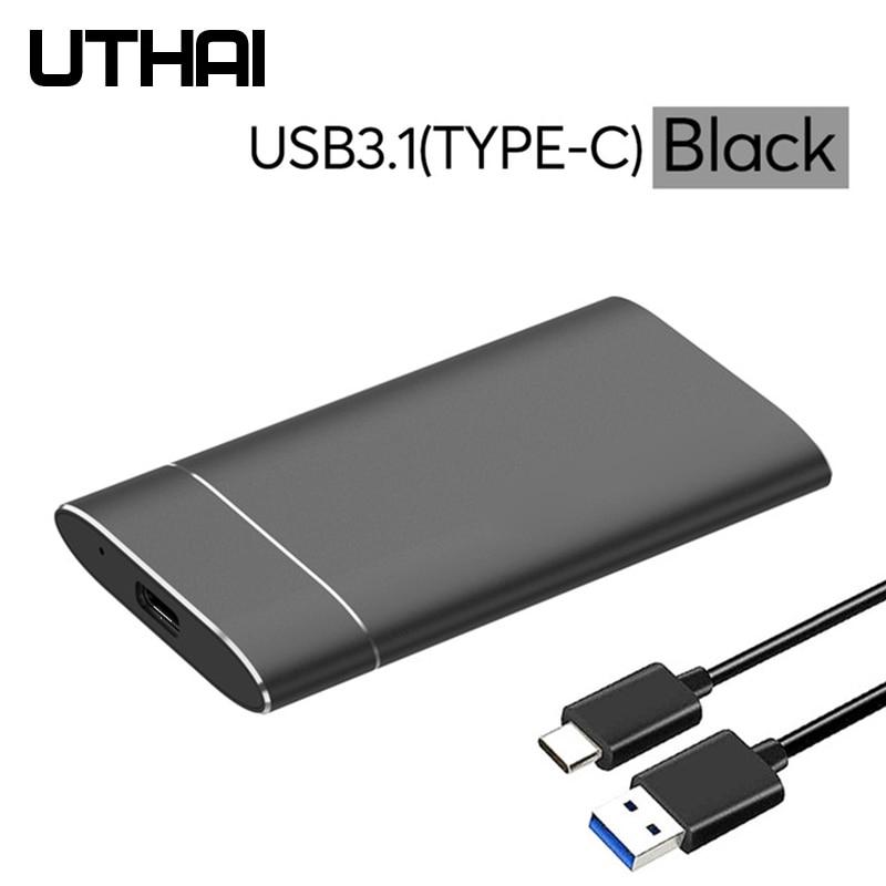 UTHAI T37 MSATA to USB3.0  HDD Enclosure Aluminum Alloy Adapter Mini-SATA SSD to USB3.1 Type-C HDD Case for 1.8 inch Sata3 Box