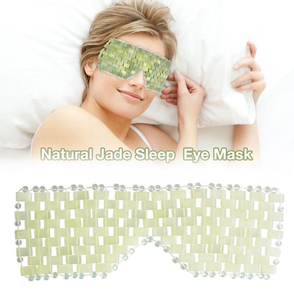 Natural Jade Eye Mask Jade Eye Curtains Hand-woven Relieve Eye Eye Fatigue Mask To Jade R1I9 visual fatigue eye dry eye astringent good value force gold vision fatigue eye mask get youth