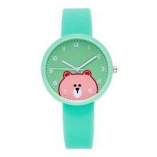 Watches Boys Girls Cute lovely Cartoon Bear Silicone Children's Watch Women Ladies Quartz Wristwatch