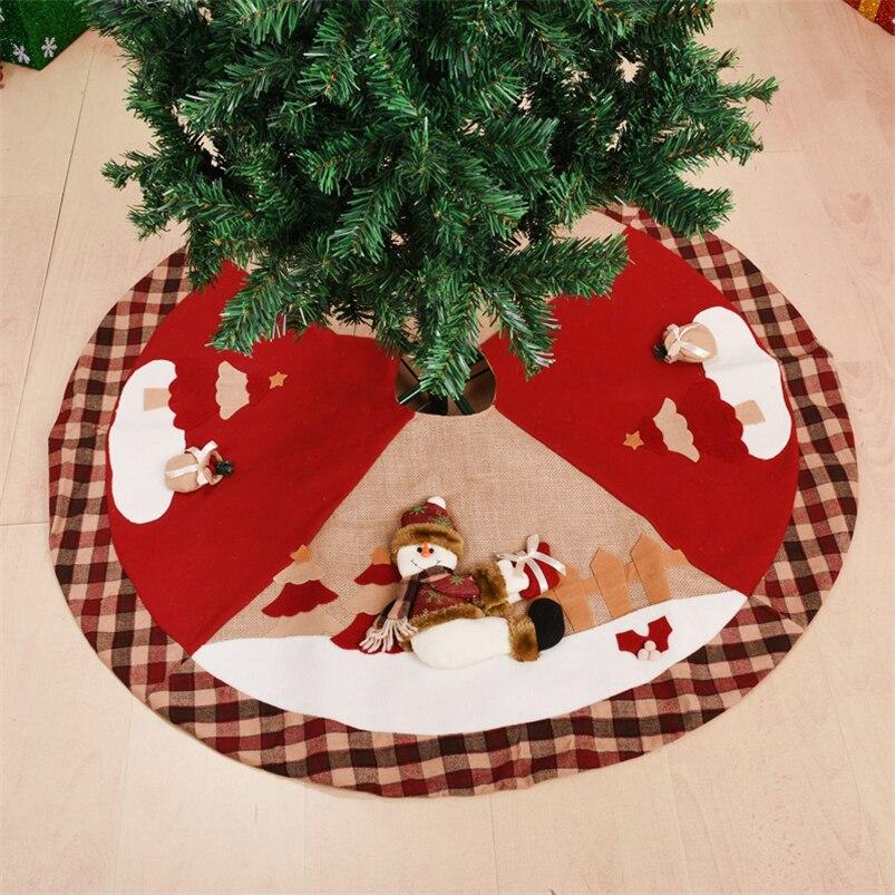 Falda grande para árbol de navidad, delantales de alfombra de 100cm, Papá...