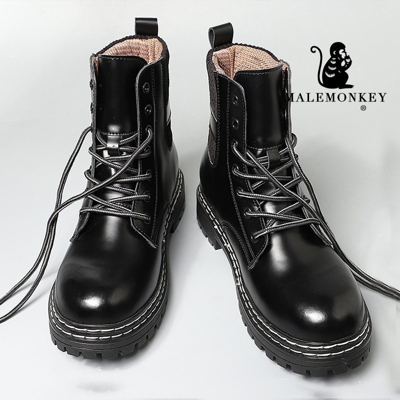 Platform Women Boots Black Couple shoes Winter 2021 Fashion Martin Men Boots Motorcycle Non-slip Wat