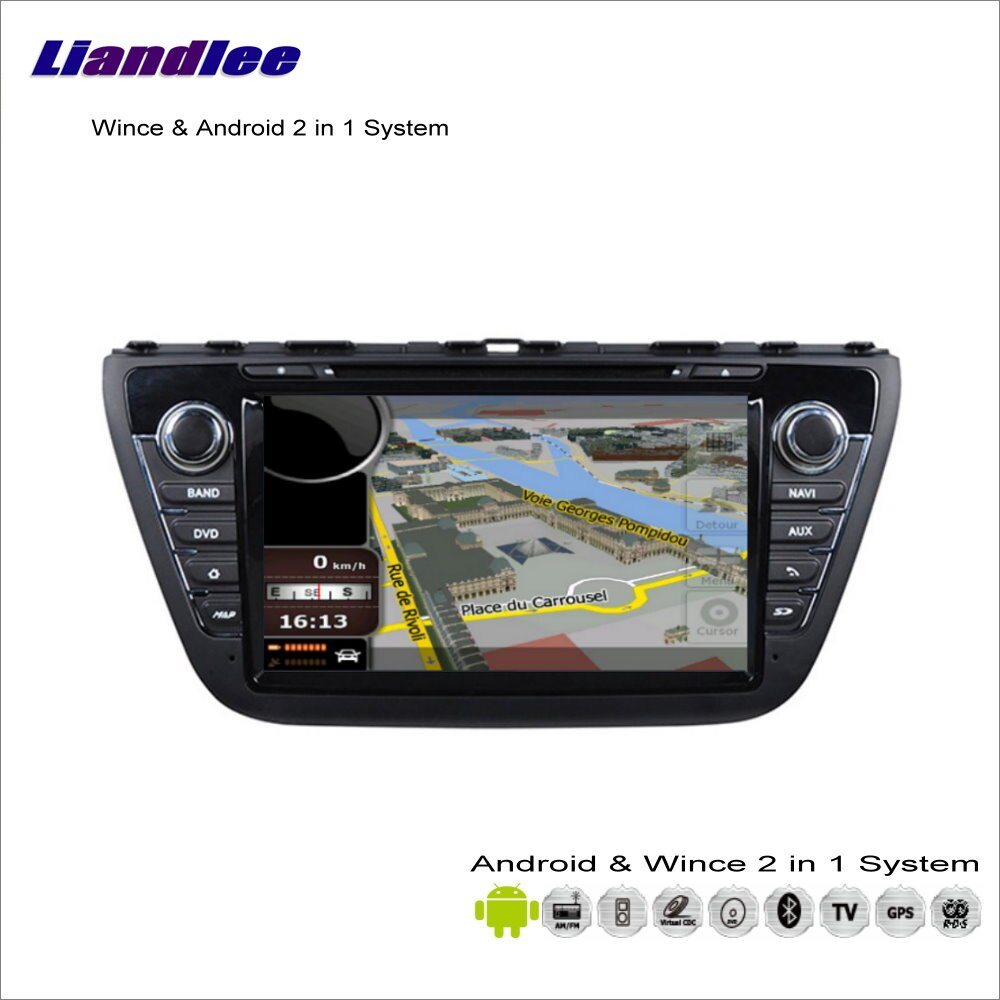 Liandlee-voiture multimédia Android Suzuki   Stéréo, pour Suzuki s-cross/SX4, 2013 ~ 2014 Radio CD DVD, lecteur GPS, Nav, Navigation, carte Audio vidéo