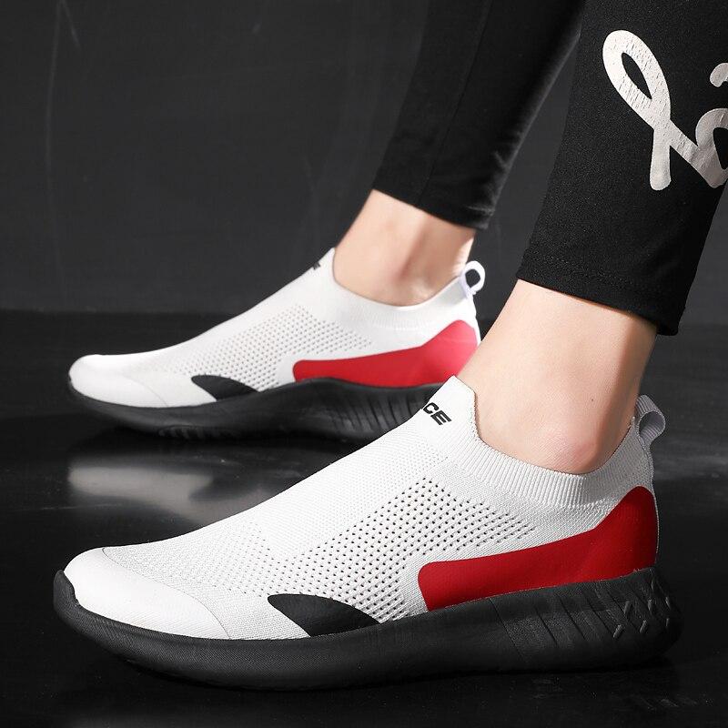 حذاء رجالي كاجوال 2021 جديد الصيف حذاء مسطح للرجال مريحة تنفس أحذية رياضية الفم موضة عالية الجودة الرجال حذاء مسطح