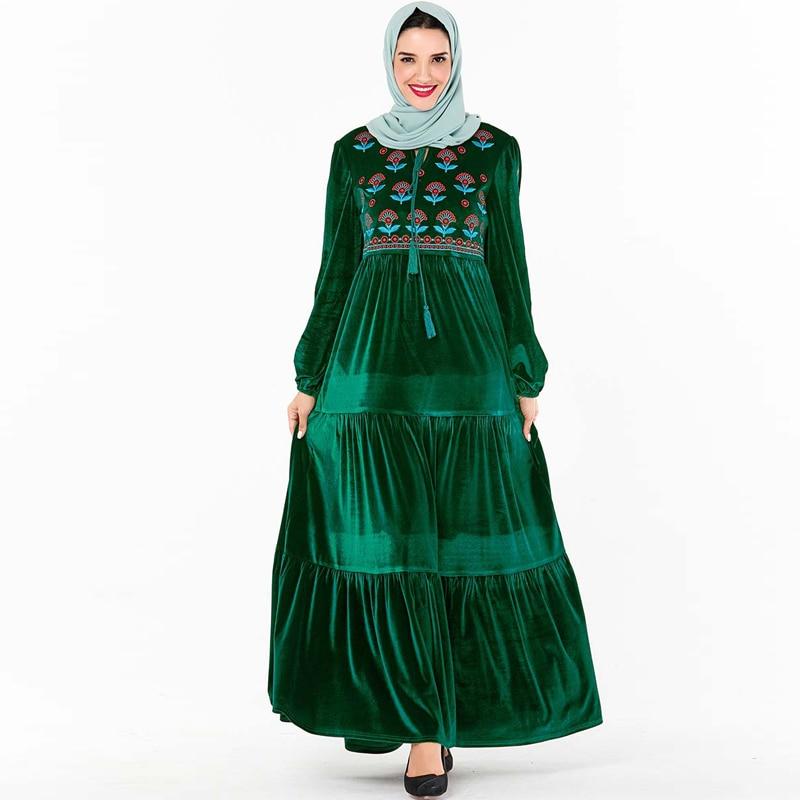 Plus Size Vestido Longo Winter Maxi Long Velvet Dress Sukienka Women Robes Ladies Dresses Vestidos Robe Longue Femme Elbise