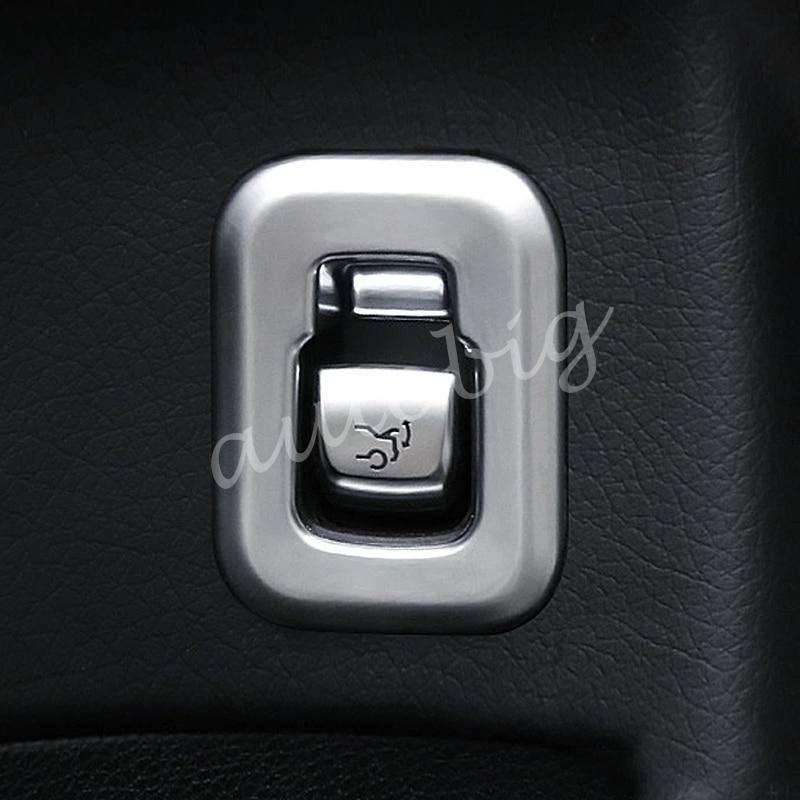 Trunk Switch Cover For Mercedes GLC C-Class X253 C253 W205 C205 C205 2015 2016 2017 2018 Pearl Chrome Interior Accessories