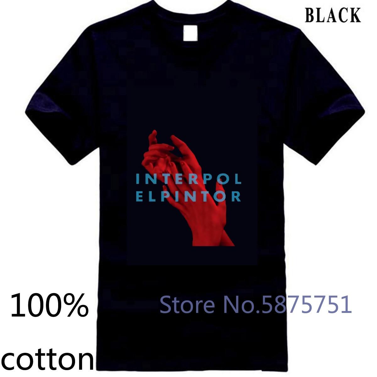 ¡Novedad! Camiseta negra de estilo masculino con estampado de la banda de Rock de la Federación Internacional Elpintor para hombre, Camiseta 100% de algodón para hombre