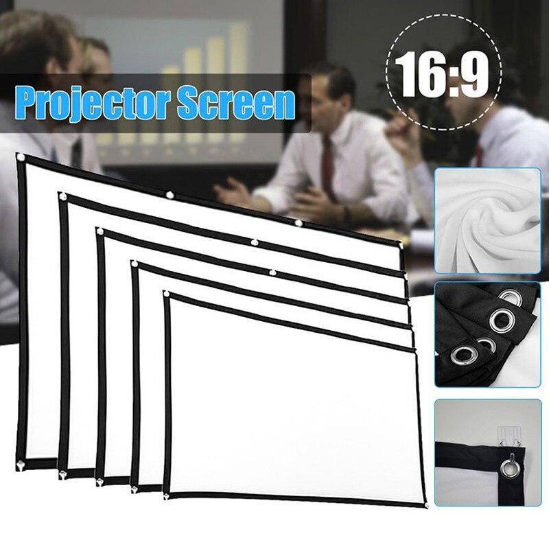 Pantalla plegable portátil del proyector 169 HD cine en casa al aire libre Cine en Casa película 3D NC99