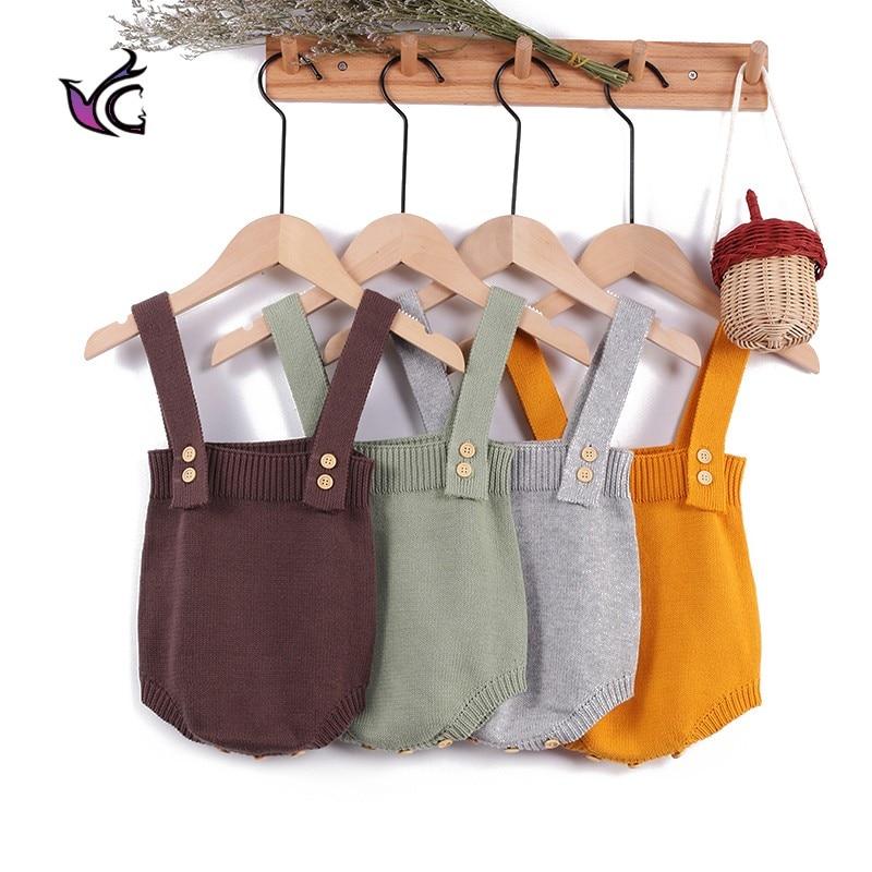 Yg Baby Clothing 2021 Sleeveless Autumn Toddler Girls Boys Jumpsuit Newborn Knitting 1-2 Years Old R