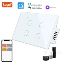 Tuya     interrupteur mural tactile a Led  1 2 3 4 voies  wi-fi  1 voie  pour Google Home  Alexa  commande vocale  Standard US