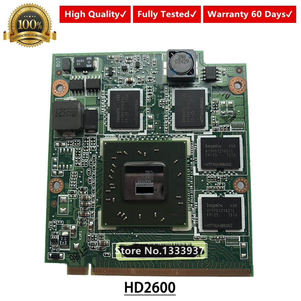 HD2600 HD 2600 de Vídeo VGA Placa Gráfica de 512MB Para Asus F8P F8S F8SA F8V N80V PRO80S X81S Z99S A8S Laptop
