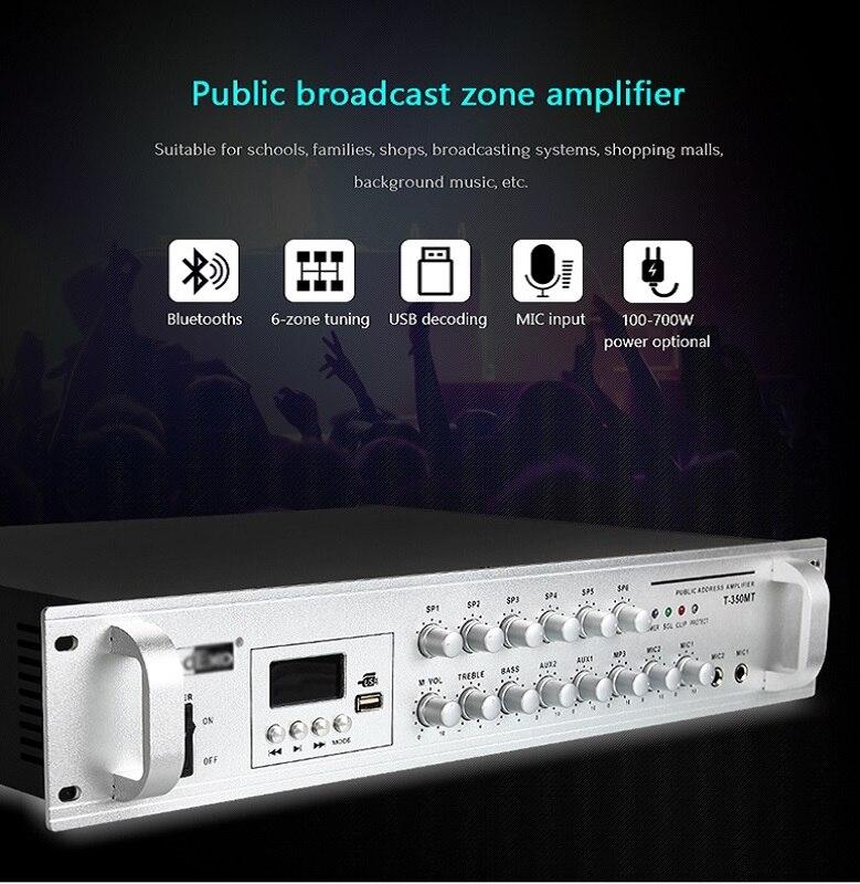 Amplificador de Alto Desempenho de Oupushi 500w com Display Amplificador Digital Completo T-500mt Led