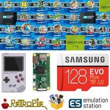 128 GB Retropie станция эмуляции SD карта для вашего GPi чехол Raspberry Pi Zero 14000 + игры FC NES SNES GBA PS NEOGEO ATARI LYNX